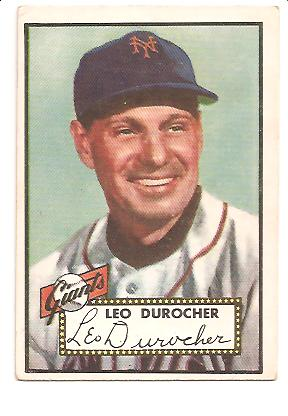 1952 Topps #315 Leo Durocher MG