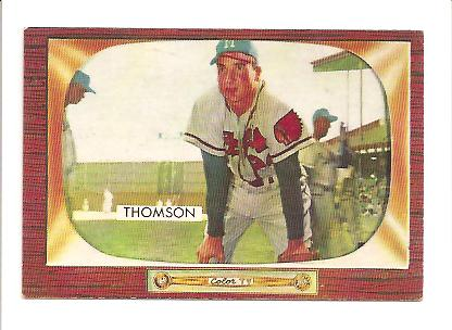 1955 Bowman #102 Bobby Thomson