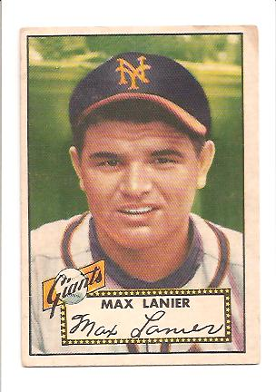 1952 Topps #101 Max Lanier