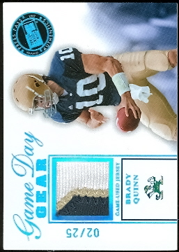 2007 Press Pass SE Game Day Gear Jerseys Holofoil Platinum #BQ Brady Quinn