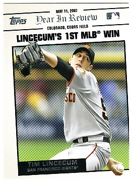 2008 Topps Year in Review #YR41 Tim Lincecum