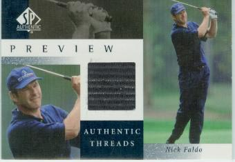 2001 SP Authentic Preview Authentic Threads #NFAT Nick Faldo