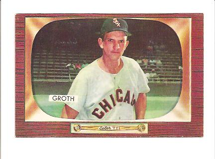 1955 Bowman #117 Johnny Groth