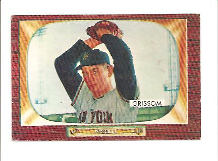 1955 Bowman #123 Marv Grissom RC