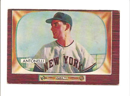 1955 Bowman #124 Johnny Antonelli