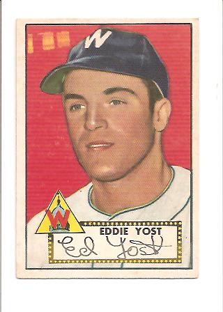 1952 Topps #123 Eddie Yost