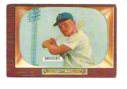 1955 Bowman #136 Rocky Bridges