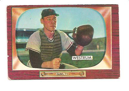 1955 Bowman #141 Wes Westrum
