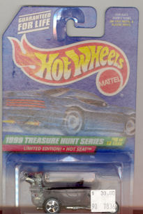 1999 Hot Wheels Mattel , 1999 Treasure Hunt Series #10 of 12, Limited Edition! Hot Seat, #938, $30.00