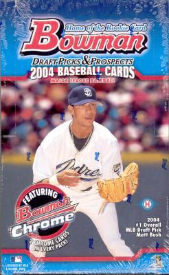 2004 Bowman Draft Picks & (and) Prospects MLB Baseball Sports Trading Cards Hobby Box