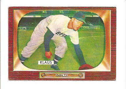 1955 Bowman #150 Billy Klaus RC