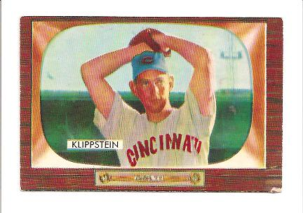 1955 Bowman #152 Johnny Klippstein