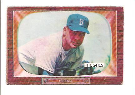 1955 Bowman #156 Jim Hughes