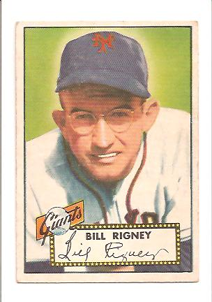 1952 Topps #125 Bill Rigney