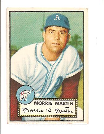 1952 Topps #131 Morrie Martin RC