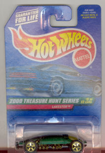 2000 Hot Wheels Mattel, Treasure Hunt Series, green #15 Lakester,   #053,
