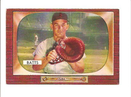1955 Bowman #161 Matt Batts