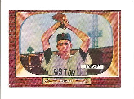 1955 Bowman #178 Tom Brewer RC
