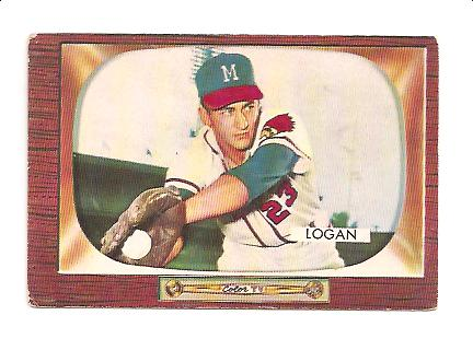 1955 Bowman #180 Johnny Logan