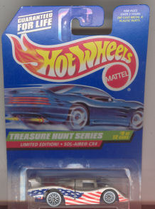 1998 Hot Wheels Mattel, Treasure Hunt Series #9 Limited Edition!  Sol-Aire CX4, red, white, and blue, #757