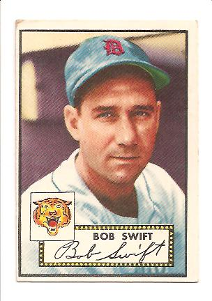 1952 Topps #181 Robert Swift Actual scan EX