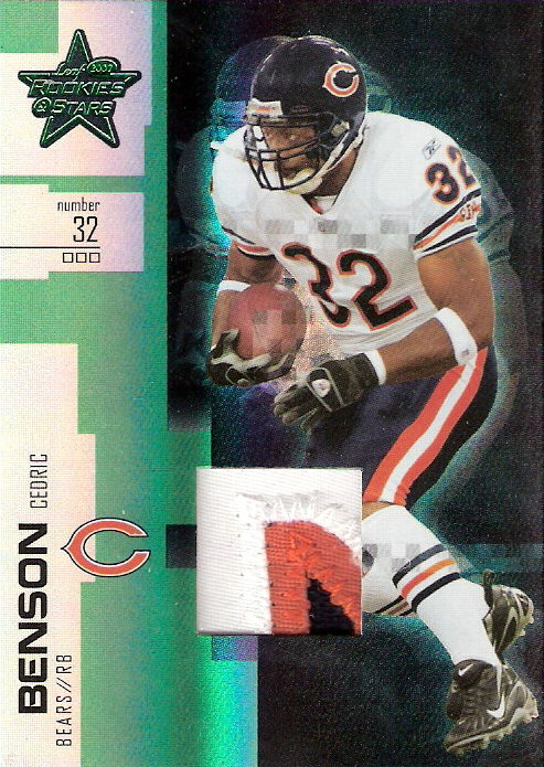 2007 Leaf Rookies and Stars Materials Emerald Prime #15 Cedric Benson