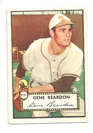 1952 Topps #229 Gene Bearden UER/(Misspelled Beardon)