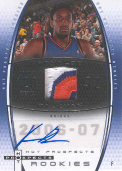 2006-07 Fleer Hot Prospects #76 Renaldo Balkman JSY AU RC