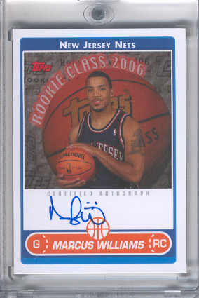 2006-07 Topps Rookie Photo Shoot Autographs #MW Marcus Williams front image