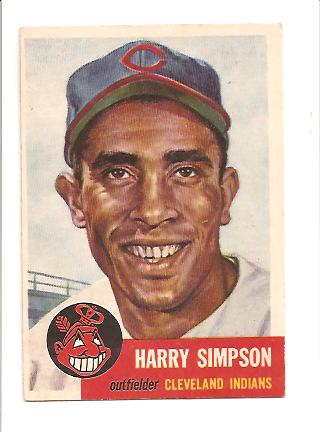 1953 Topps #150 Harry Simpson DP