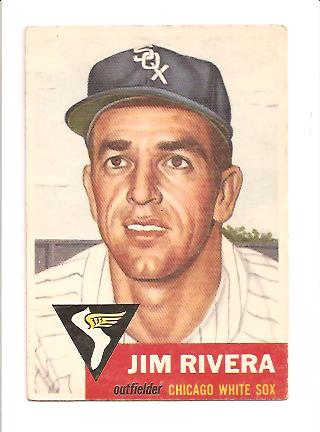 1953 Topps #156 Jim Rivera DP RC
