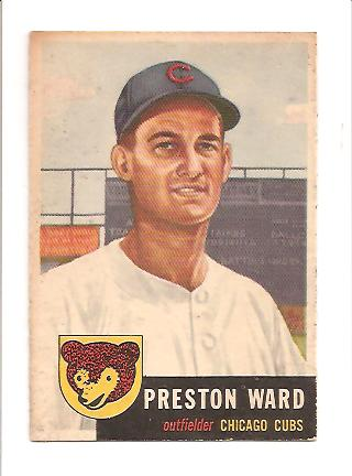 1953 Topps #173 Preston Ward