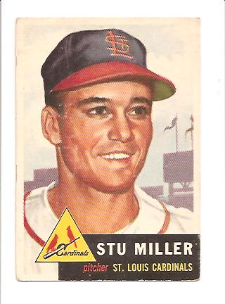 1953 Topps #183 Stu Miller RC