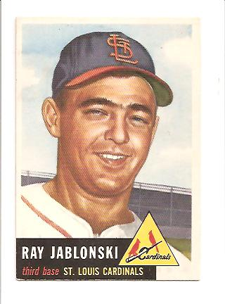 1953 Topps #189 Ray Jablonski RC