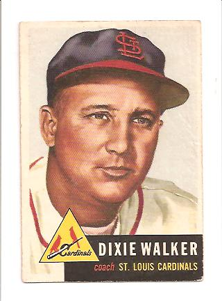 1953 Topps #190 Dixie Walker CO