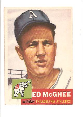 1953 Topps #195 Ed McGhee RC