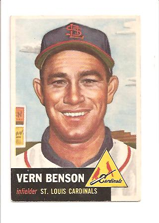 1953 Topps #205 Vern Benson RC