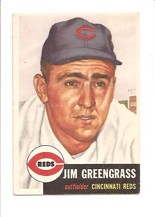 1953 Topps #209 Jim Greengrass RC