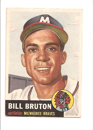 1953 Topps #214 Bill Bruton RC
