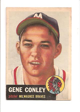 1953 Topps #215 Gene Conley RC