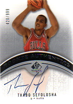 2006-07 SP Authentic #101 Thabo Sefolosha AU RC
