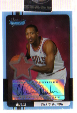 2004-05 Bowman Signature Edition #86 Chris Duhon JSY AU RC