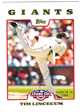 2008 Topps Opening Day Gold #69 Tim Lincecum