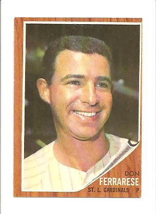1962 Topps #547 Don Ferrarese EX+ Actual scan