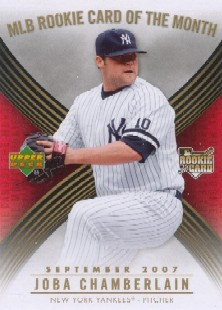 2007 Upper Deck MLB Rookie Card of the Month #ROM6 Joba Chamberlain