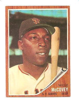 1962 Topps #544 Willie McCovey SP front image
