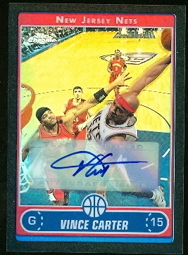 2006-07 Topps Chrome Autographs Refractors Black #12 Vince Carter B