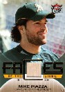 2007 Ultra Faces of the Game Materials #MP Mike Piazza