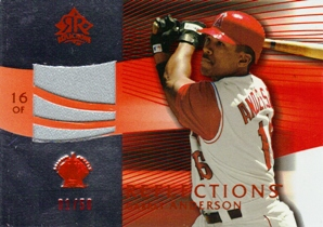 2004 Reflections Red #229 Garret Anderson Jsy L3