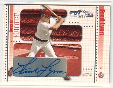 2004 Donruss Timelines Boys of Summer Autograph #15 Fred Lynn